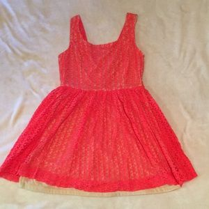 Orange Charlotte Russe lace dress